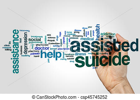 Suicide clipart word Of grey suicide on background