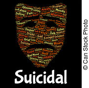 Suicide clipart word Illustrations And Clip Suicide Deadly
