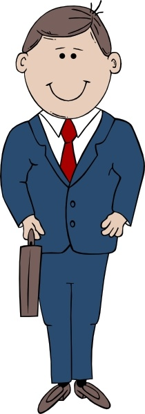 Suit clipart Svg ( Man art office