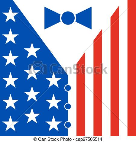 America clipart bow tie Flag mens colors in Clip