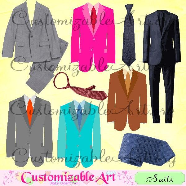 Suit clipart brown Dark Clip Graphics Black Suit