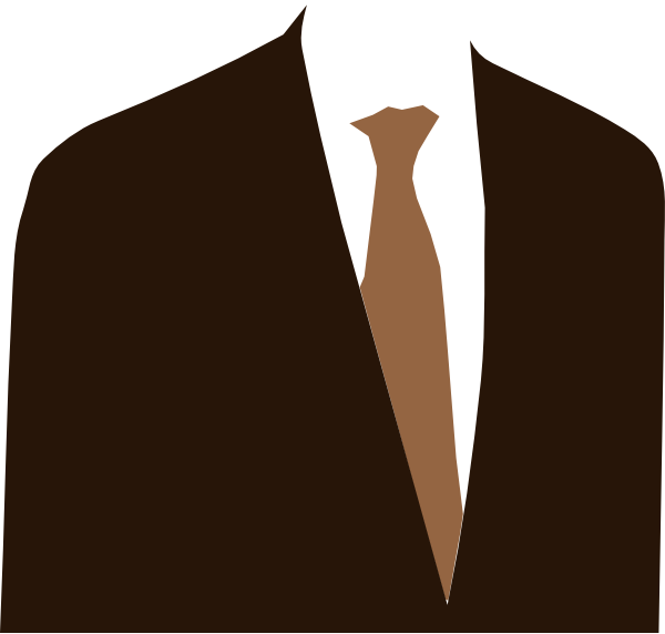 Suit clipart brown Clip Brown vector at image