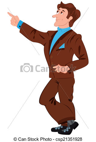 Suit clipart brown Of suit Illustration finger in