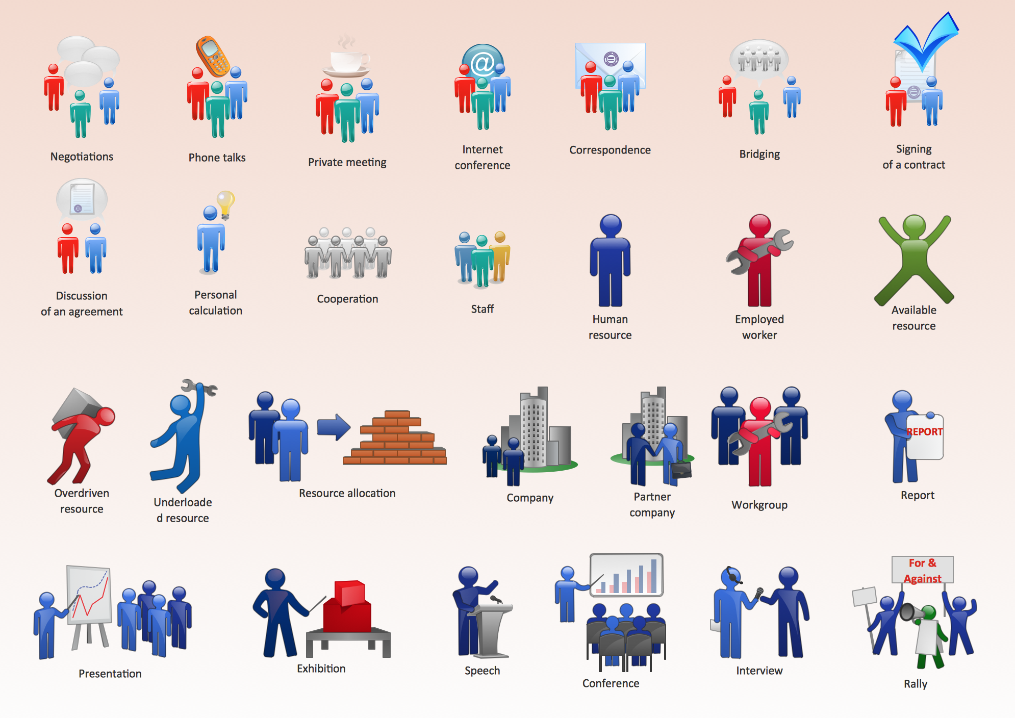 Figurine clipart visio Microsoft clipart Business Figures people