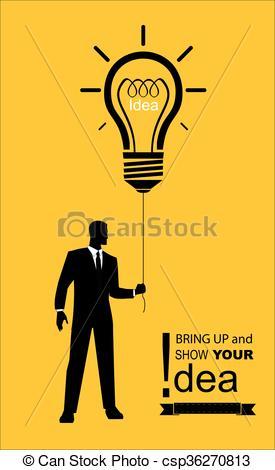 Suit clipart business exhibition Eps man idea Vector gathering