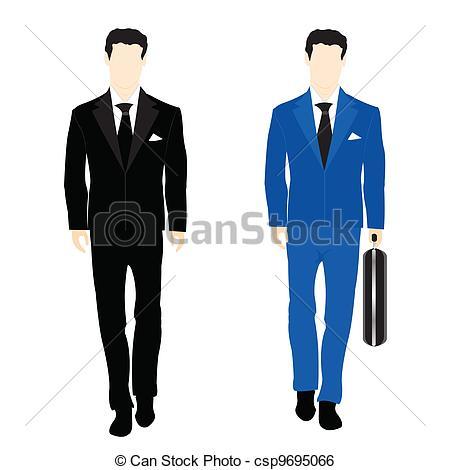 Suit clipart business suit Suit csp9695066 the people Art