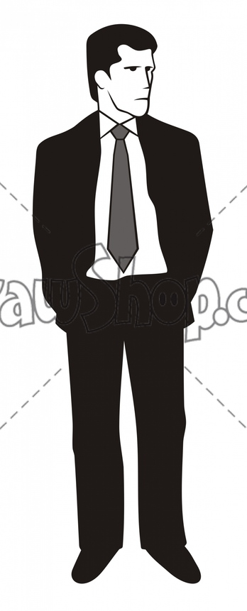 Suit clipart cartoon man  of Man vector Clipart