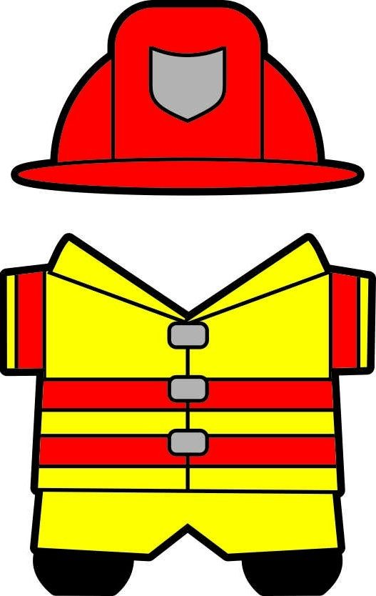 Uniform clipart firefighter uniform Fireman Printables more this and