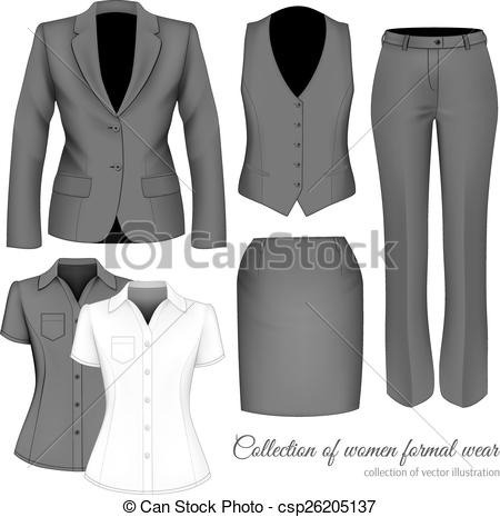 Suit clipart formal wear Women Vectors the The The