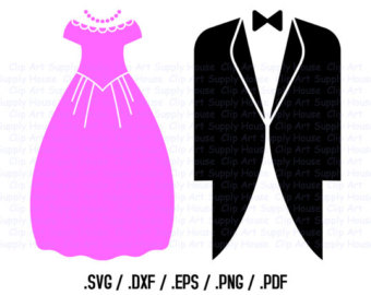 Suit clipart groom silhouette Wall Wedding Clipart Etsy Bride