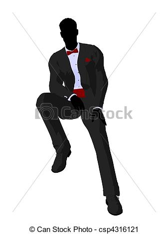 Suit clipart groom silhouette Groom in Clipart Silhouette in