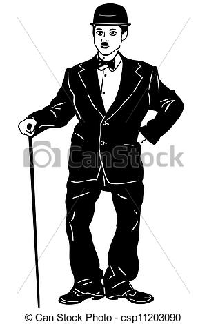 Suit clipart little man Little black of man sketch