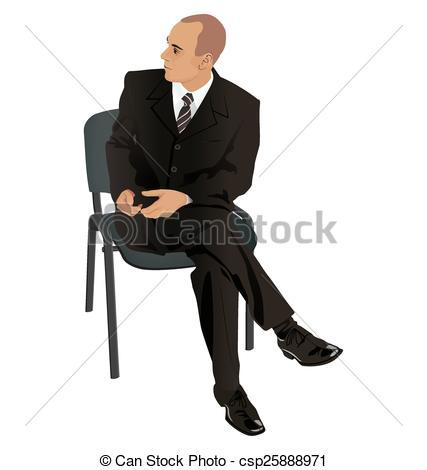 Suit clipart office man Isolated chair Illustration Vectors suit