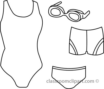 Suit clipart outline Bathing Black And Art Resolution