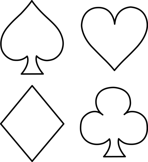 Club clipart card Card Card Clipart suit outline