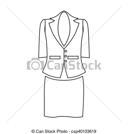 Suit clipart outline Csp40103619 outline Art icon outline