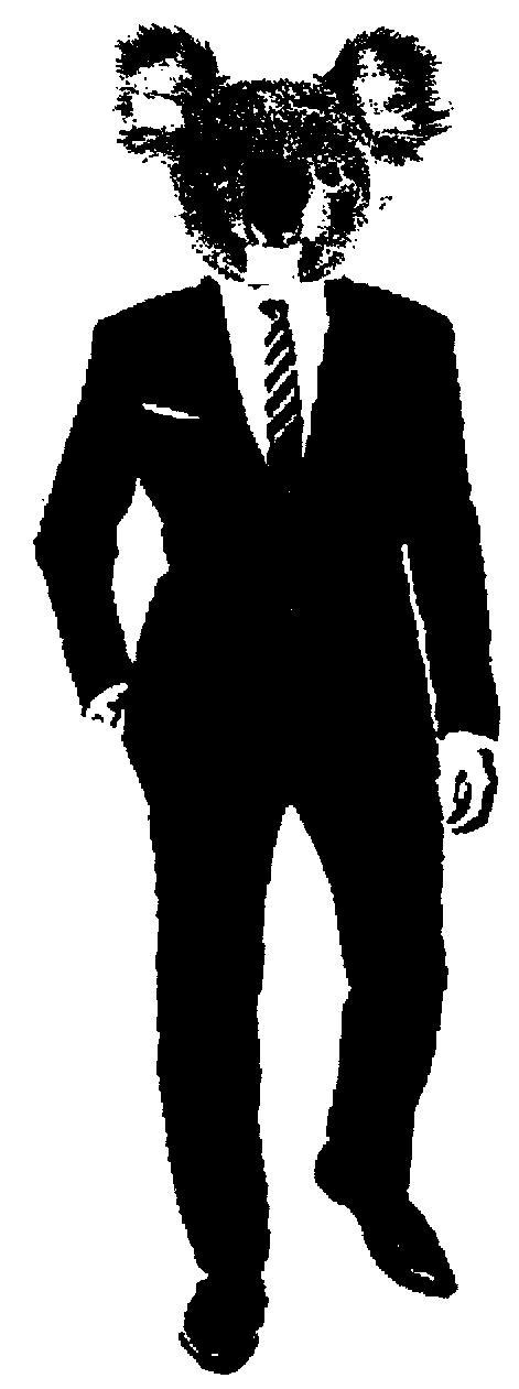 Suit clipart stencil Library library Koala Stencil Stencil