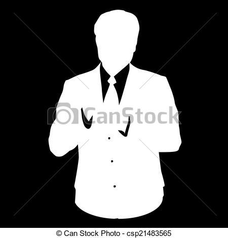 Suit clipart stencil Stencil business suit Graphic illustration