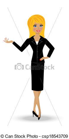 Suit clipart woman suit Business in woman slender