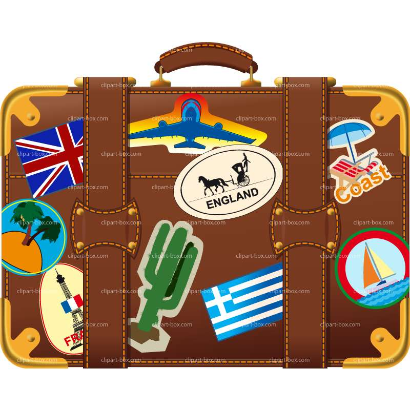 Suitcase clipart Suitcase 2 clipartfest Holiday luggage