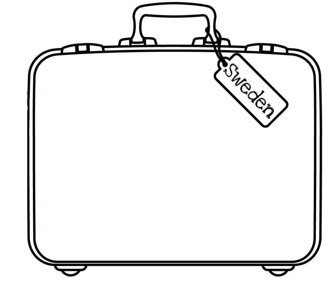 Purse clipart black suitcase Suitcase #5058 Clipartwork Suitcase art