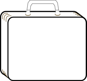 Suitcase clipart  Colorless online Art clip