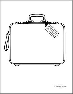 Purse clipart black suitcase Pattern for the  outline