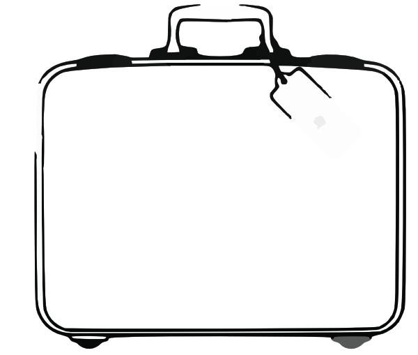Purse clipart black suitcase Art clip Clker  vector
