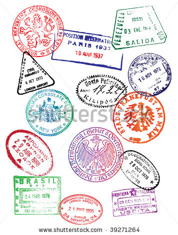 Stamp clipart luggage #5