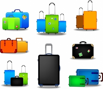 Stamp clipart luggage #3
