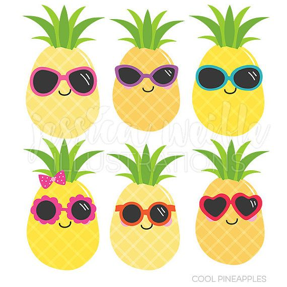 Amd clipart pineapple Cool 20+ Commercial Summer JWIllustrations