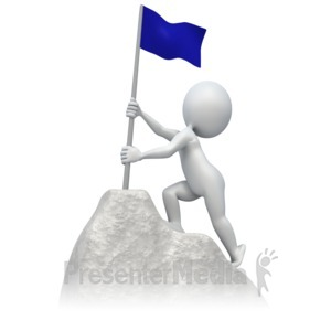 Summit clipart mountain trekking ID# Flag At Climbing A