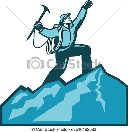 Summit clipart black and white Illustration csp16162563 Summit Mountain Mountain