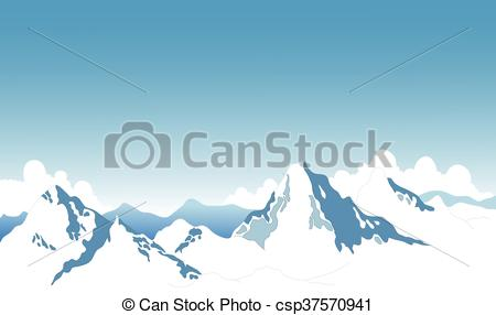 Summit clipart mountain background Vector snow  background mountain