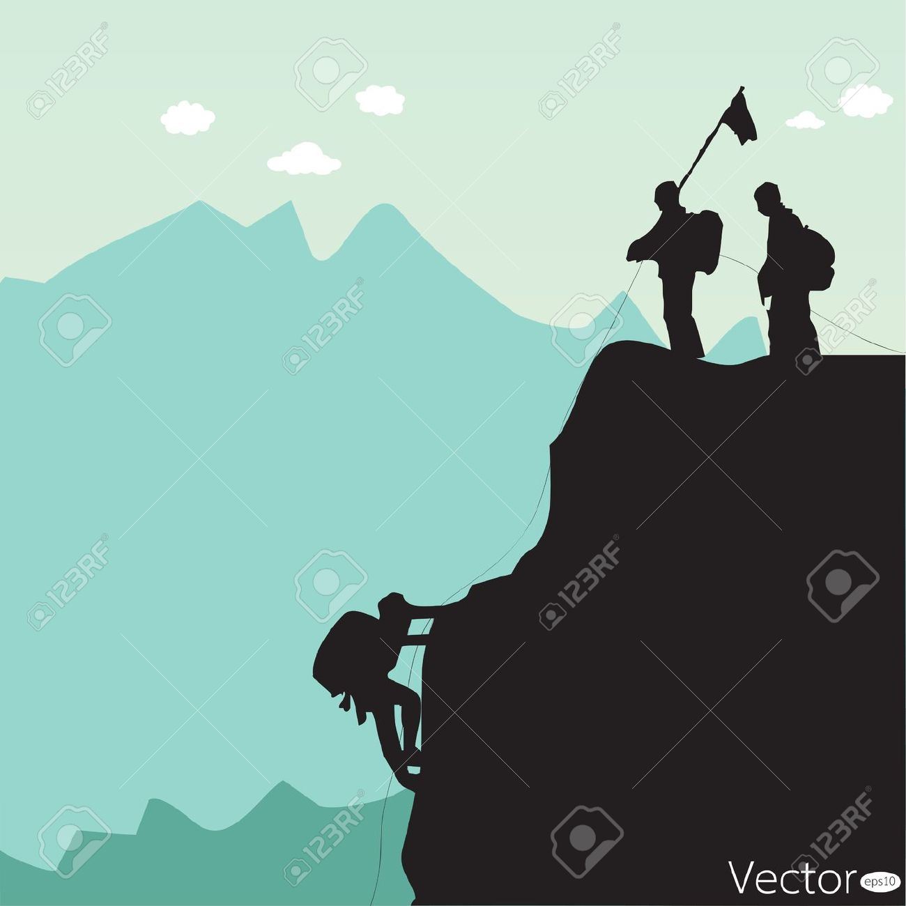 Summit clipart mountain skiing Royalty Stock Climbing Royalty