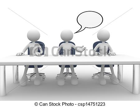 Summit clipart round table discussion Meeting  art 044 3d