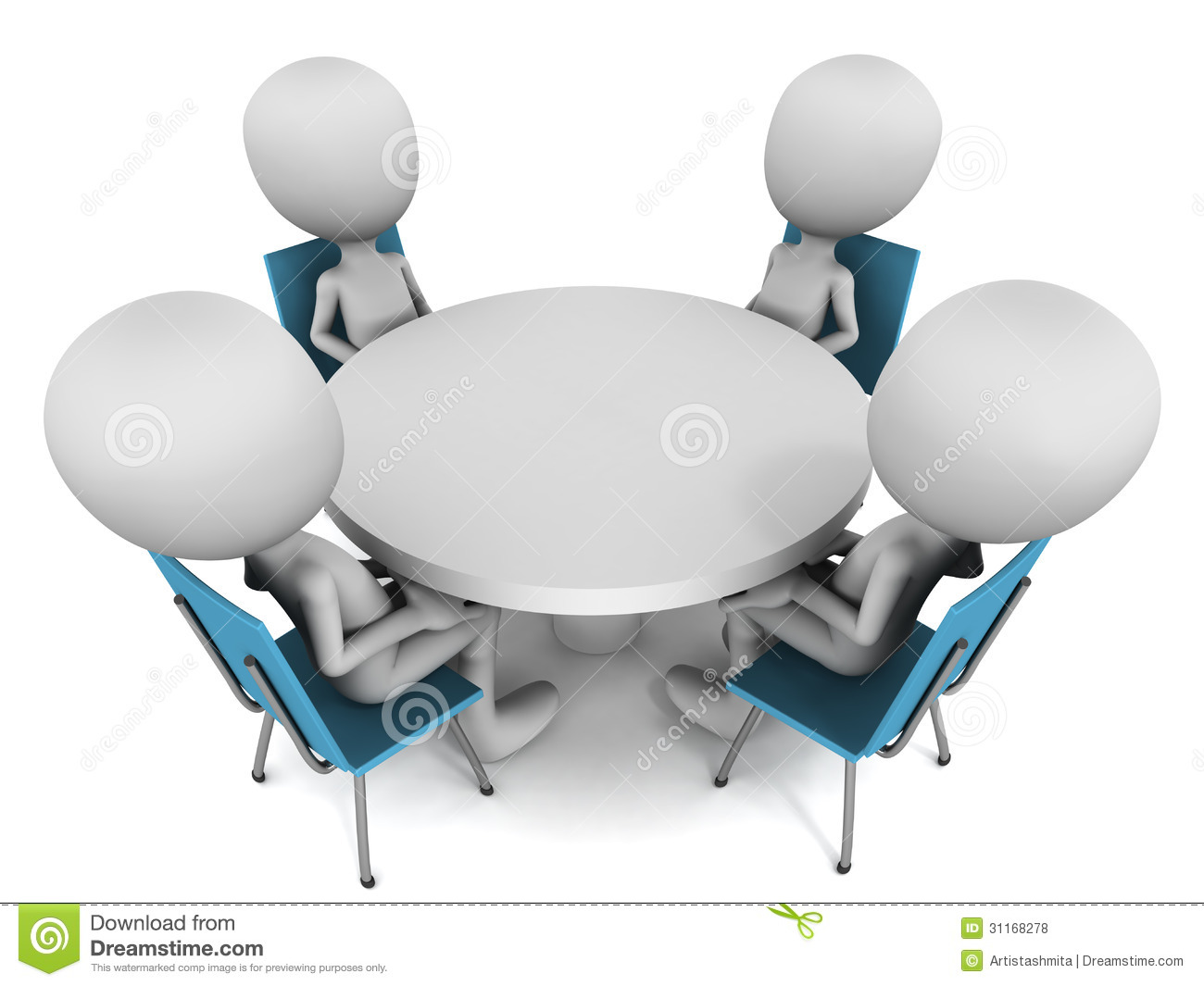 Summit clipart round table discussion  table Is round Meeting
