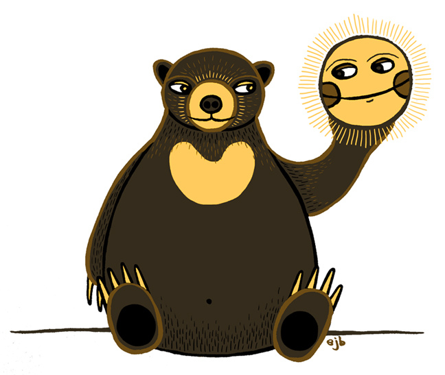 Brown Bear clipart sun bear Sun cartoon Cartoon bear Sun