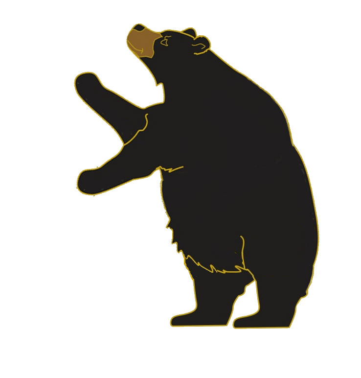 Small clipart standing bear Black Clipart Top Clip 9