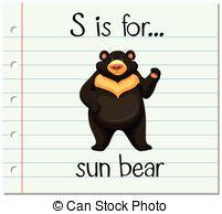 Sun Bear clipart For EPS art S vector