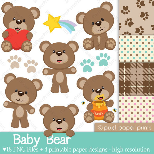 Bear clipart real baby Digital Download Art Baby Cliparts