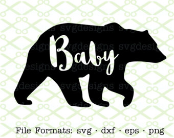 Paw clipart baby bear Etsy Digital Eps for Baby