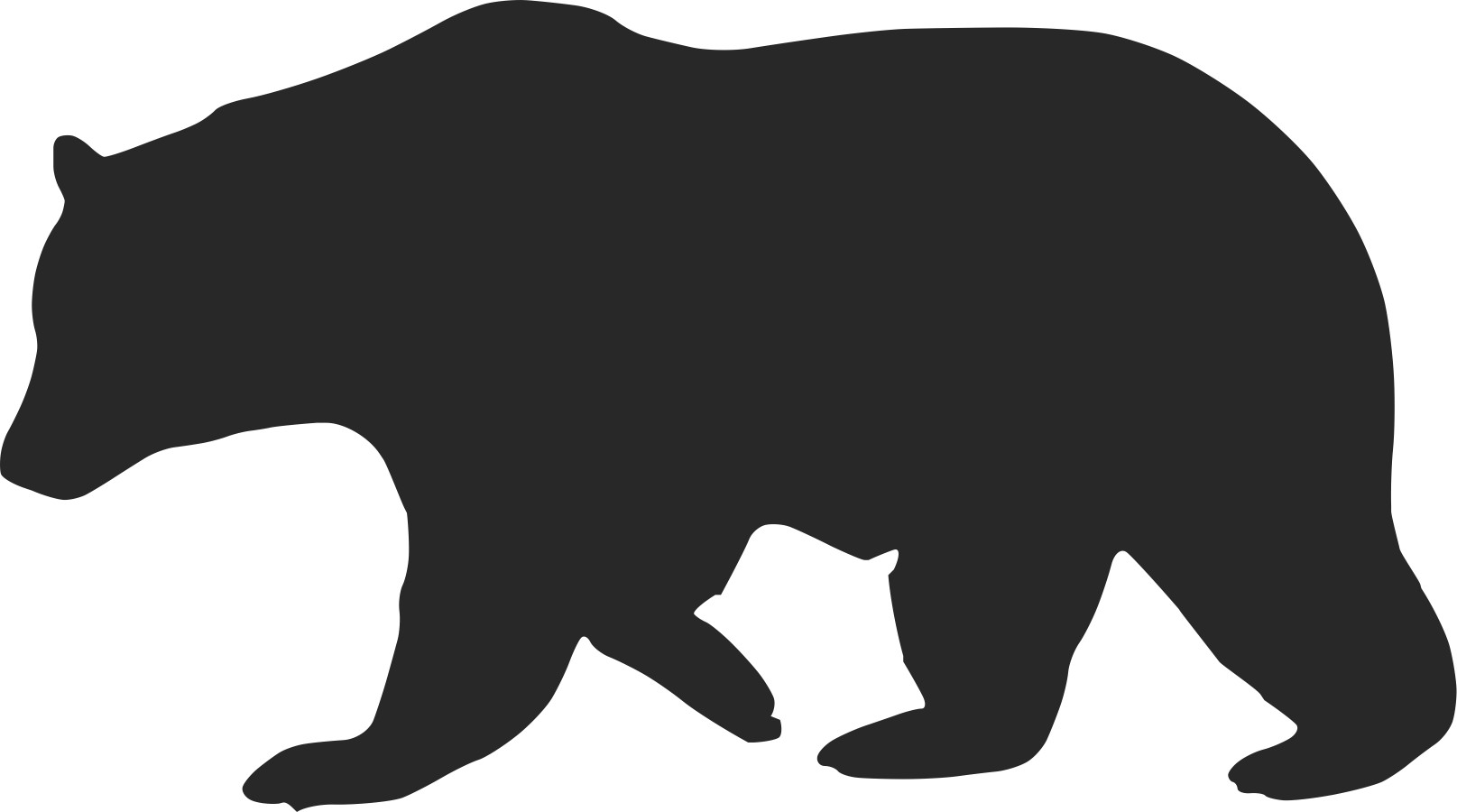 Grizzly Bear clipart outline #3