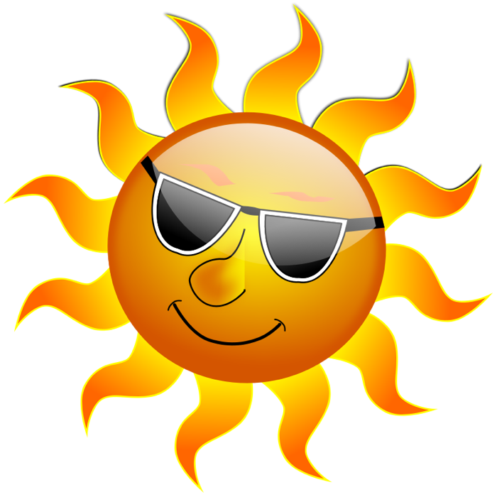 Sunlight clipart Sun Sunglasses Wearing & Sunny
