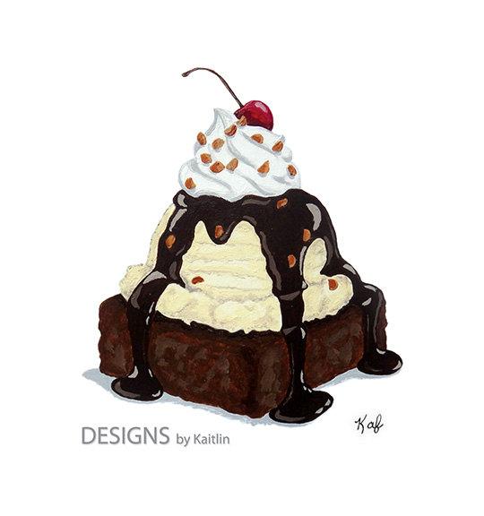 Brownie clipart food Of Dessert Brownie  Cream