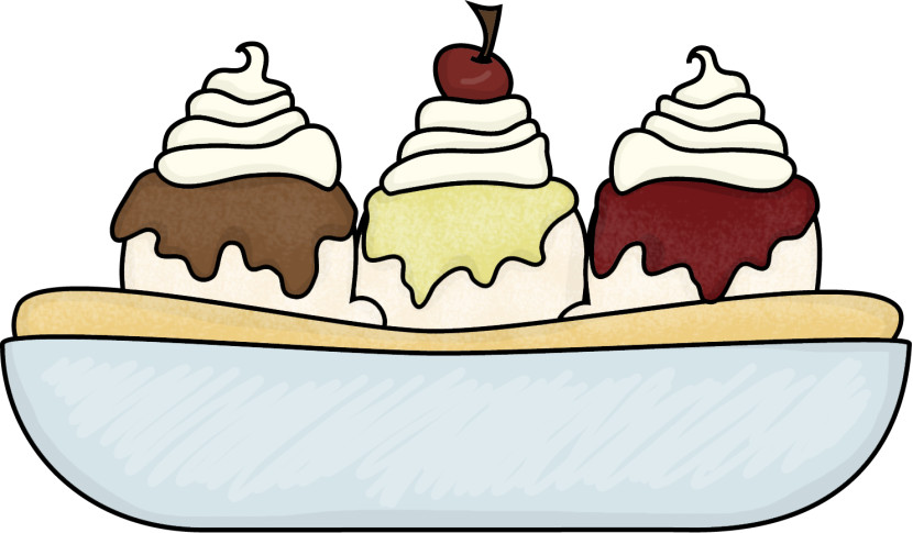 Banana Split clipart ice cream sundae bar Ice Bowl Free Clipartion Clipart