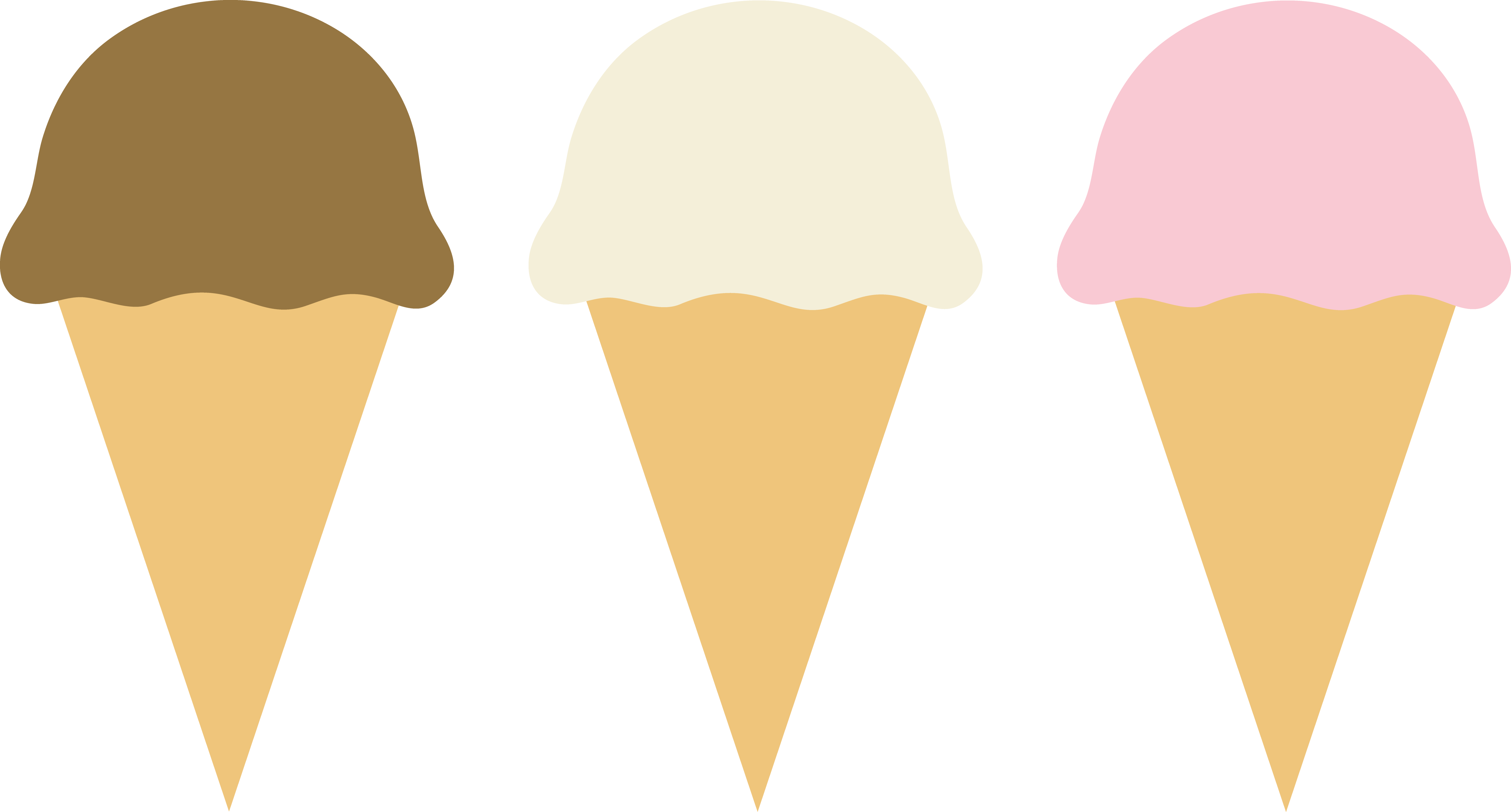 Vanilla clipart ice lolly Three Free  Art Cones