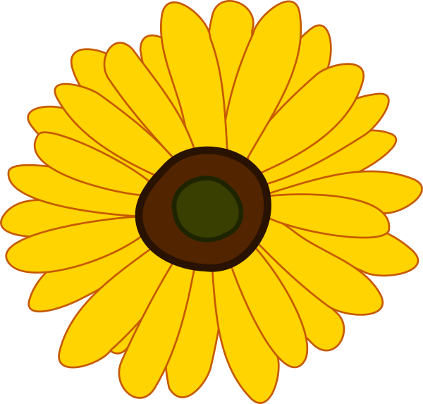 Sunflower clipart Free clipartix Sunflower 70 Cliparting
