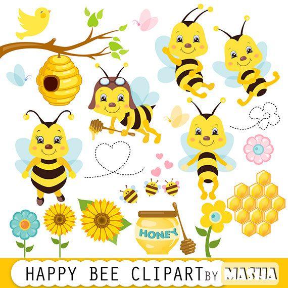 Bee clipart honey bee Cardmaking Honey bee scrapbooking