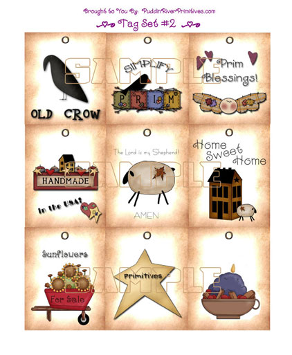 Barn clipart primitive Grubby Country art Instant Country